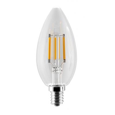 لامپ ال ای دی فیلامنتی 4 وات شمعی پارمیس پایه E14